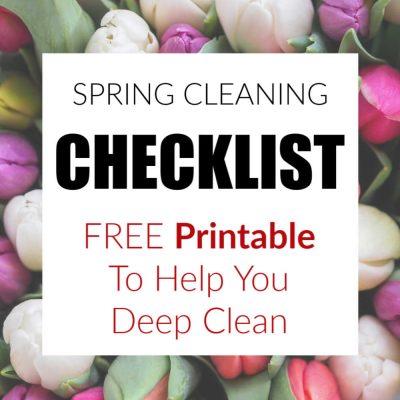 Spring Cleaning Checklist Printable | FREE Worksheet