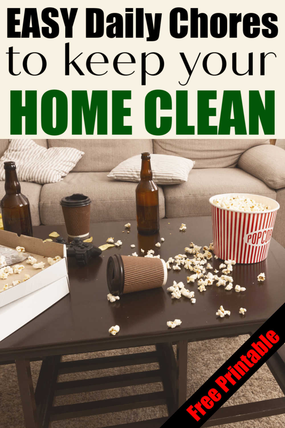 Don\'t Be Overwhelmed with Cleaning! Use This Daily Cleaning Schedule to Keep a Sparkling Home!