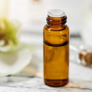 small bottle of tea tree oil