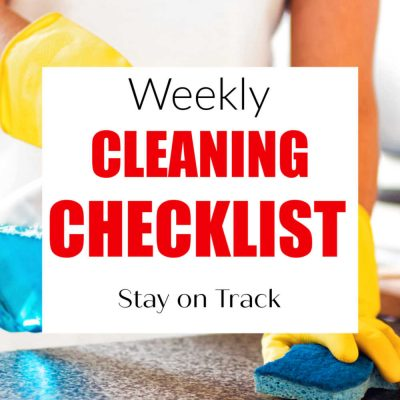 Editable Weekly Cleaning Checklist Printable