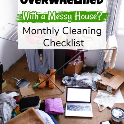 Free Monthly Cleaning Printable – Editable Checklist