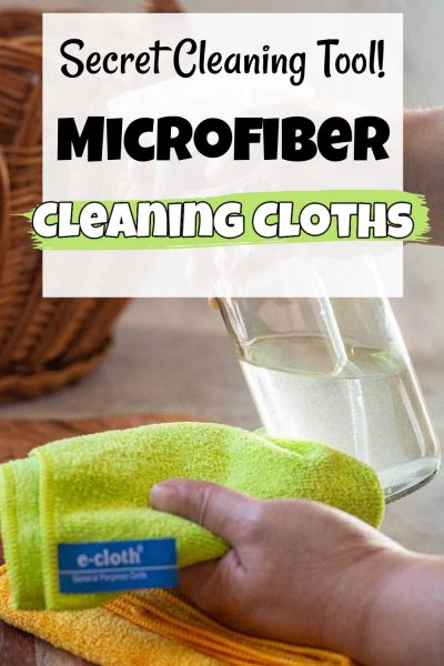 using a microfiber cleaning cloth with a glass spray bottle